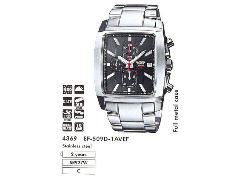Японские часы Casio Edifice EF-509D-1AVEF. Интернет-магазин WatchMag.